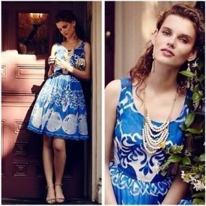 Anthro Plenty by Tracy Reese Azure Blue Lace Dress